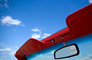 Outdoors Posters - Photo of Convertible Car and Blue Sky Poster by Paul Velgos