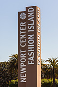 Mall Framed Prints - Photo of Fashion Island Sign in Newport Beach Framed Print by Paul Velgos
