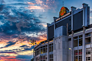 Football Pictures Prints - Photo Ohio State Buckeyes at Sunset in Colulmbus Ohio Print by Dave Gordon