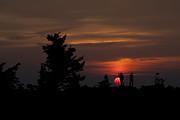 Photographers Shooting Sunrise At Bear Rocks Print by Dan Friend