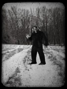Man Photo Prints - Photographic Evidence of Big Foot Print by Edward Fielding