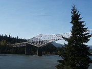 Northwest Landscape Mixed Media - PhotoRealistic Bridge of The Gods by Scott Laffin