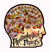 Intelligence Mixed Media Framed Prints - Phrenological Phacts Framed Print by Dale Michels