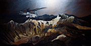 Corps Painting Originals - Phrogs Over Afghanistan by Stephen Roberson