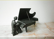 Collection Sculpture Framed Prints - Pianist Framed Print by Nikola Litchkov