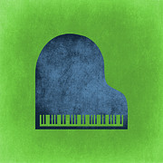Grand Piano Digital Art Posters - Piano Blues Poster by Vintage Poster Designs
