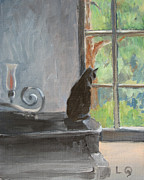 Lori Quarton Art - Piano Cat by Lori Quarton