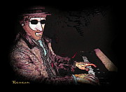 Pianists Prints - Piano Funk Print by Sadie Reneau
