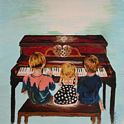 Dothan Alabama Framed Prints - Piano Lesson Framed Print by Brandy Nicole Clark