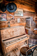 Old West Photo Metal Prints - Piano Man Metal Print by Cat Connor