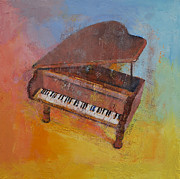 Modern Realism Oil Paintings - Piano by Michael Creese