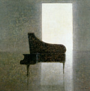 Pianos Paintings - Piano Room 2005 by Lincoln Seligman