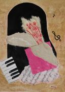 Mini Arora Collages Mixed Media - Piano Still Life by Mini Arora