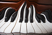 Color Bending Framed Prints - Piano wave Framed Print by Garry Gay
