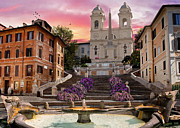 Fountain Framed Prints - Piazza Di Spagna Framed Print by Dominic Davison