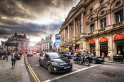 Busy City Photos - Picadilly Circus Traffic by Yhun Suarez