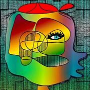 Picasso Inspired Cartoon Print by Iris Gelbart