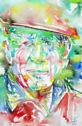 Pablo Framed Prints - Picasso Pablo Watercolor Portrait.1 Framed Print by Fabrizio Cassetta