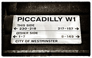 Piccadilly Prints - Piccadilly W1 Print by John Rizzuto