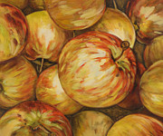 Apples Paintings - Pick Me by Jen Norton