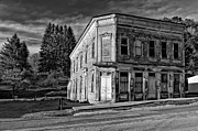 Abandoned Building Prints - Pickens WV monochrome Print by Steve Harrington