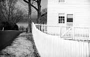 Old School House Photos - Picket Fence by John Rizzuto