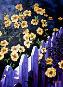 Zelma Hensel Framed Prints - Picket Fence Framed Print by Zelma Hensel