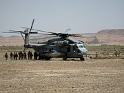 Afghanistan Photos - Picking up troops in Afghanistan by Jetson Nguyen