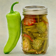 Hot Pepper Framed Prints - Pickled Peppers Framed Print by Bill  Wakeley