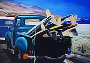 Pickup Truck Print by Chikako Hashimoto Lichnowsky