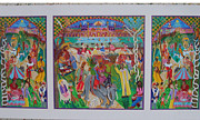 Iconic Sculpture Framed Prints - Picnic 2 Framed Print by Maria Alquilar