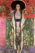 Adele Painting Metal Prints - Picture of Adele Bloch Bauer  Metal Print by Gustav Klimt
