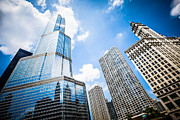 Architecture Metal Prints - Picture of Chicago New and Old Buildings Metal Print by Paul Velgos