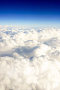Puffy Prints - Picture of Clouds From Above Print by Paul Velgos