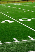 Marker Posters - Picture of Football Field 40 Yard Line Poster by Paul Velgos