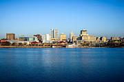 Riverboat Framed Prints - Picture of Peoria Illinois Skyline Framed Print by Paul Velgos