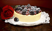 Doily Digital Art - Picture Perfect Cheesecake by Jodi Jacobson