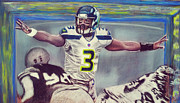 Quarterback Pastels Prints - Picture Perfect featuring Russell Wilson Print by D Rogale