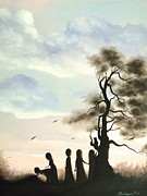 Fantasy Tree Art Prints - Picture Perfect Friends. Fantasy Fairytale Art By Philippe Fernandez Print by Philippe Fernandez