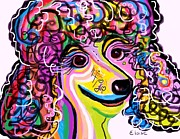 Brindle Mixed Media Posters - Picture Perfect Poodle  Poster by Eloise Schneider