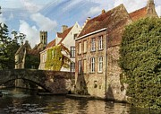 Stone Bridge Prints - Picturesque Bruges Print by Juli Scalzi