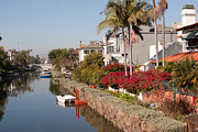 Venice Beach Palms Prints - picturesque canals of Venice- California Print by Tomas Benavente