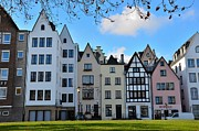 Cologne Framed Prints - Picturesque row of European houses Framed Print by Imran Ahmed