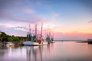 Fishing Creek Posters - Picturesque Shem Creek Poster by Walt  Baker