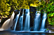 Ocean River Prints - Picturesque Waterfall Print by Zach Edlund