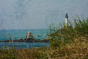 Sea Oats Prints - Pidgeon Point Lighthouse Print by Kay Pickens
