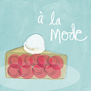 French Mixed Media Prints - Pie a la mode Print by Linda Woods