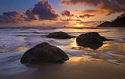 Sunset Seascape Framed Prints - Pieces of Eight Framed Print by Mike  Dawson