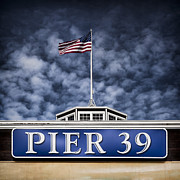 Stars And Stripes Prints - Pier 39 Print by David Bowman
