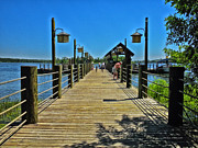 Magic Kingdom Photographs Prints - Pier at Fort Wilderness Print by Thomas Woolworth